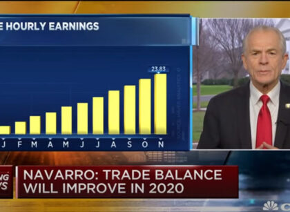 "CNBC Transcript: Peter Navarro predicts Dow Jones will hit ""at least"" 32,000 in 2020"